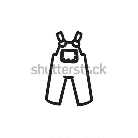 Baby overalls sketch icon. Stock photo © RAStudio