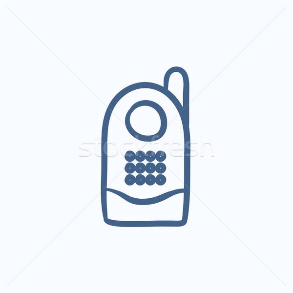 Сток-фото: радио · ребенка · контроля · эскиз · икона · вектора