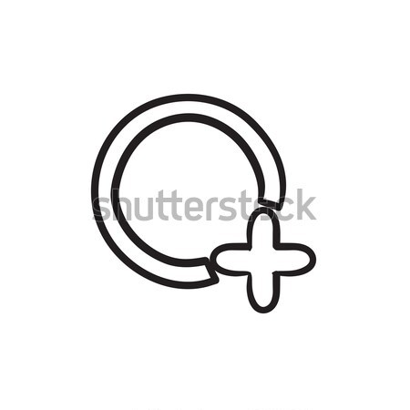 Add file sketch icon. Stock photo © RAStudio