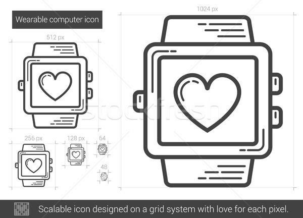 Wearable computer line icon. Stock photo © RAStudio