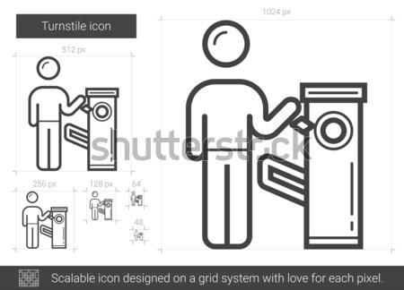 Csap tart vonal ikon vektor izolált Stock fotó © RAStudio