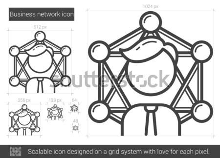 Zdjęcia stock: Business · network · line · ikona · wektora · odizolowany · biały