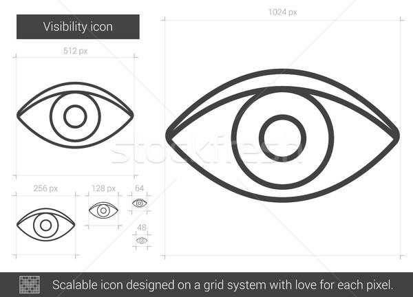 Visibilidade linha ícone vetor isolado branco Foto stock © RAStudio