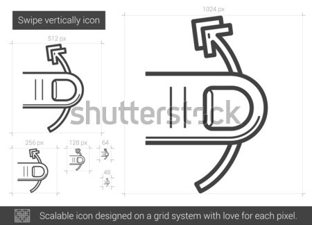 Függőlegesen vonal ikon vektor izolált fehér Stock fotó © RAStudio