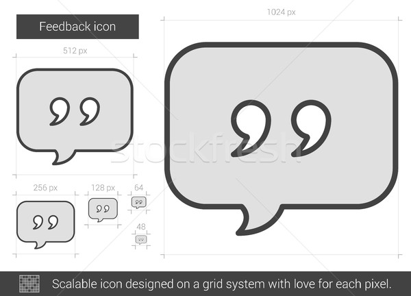 Feedback line icon. Stock photo © RAStudio