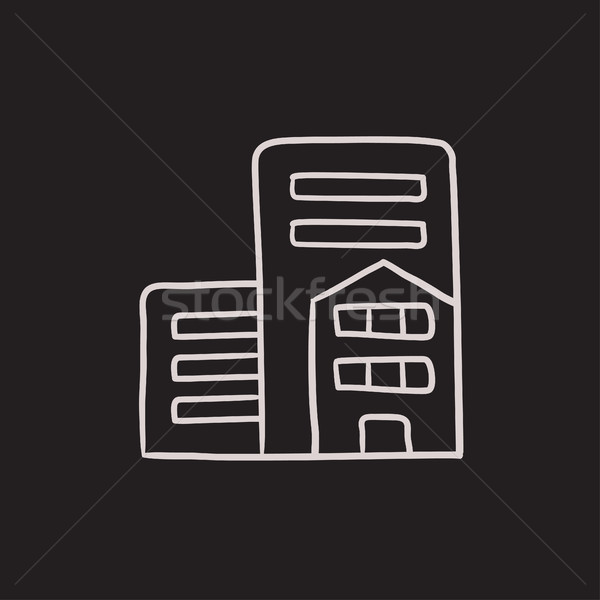 Residential buildings sketch icon. Stock photo © RAStudio