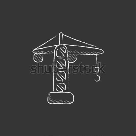 Construction crane sketch icon. Stock photo © RAStudio