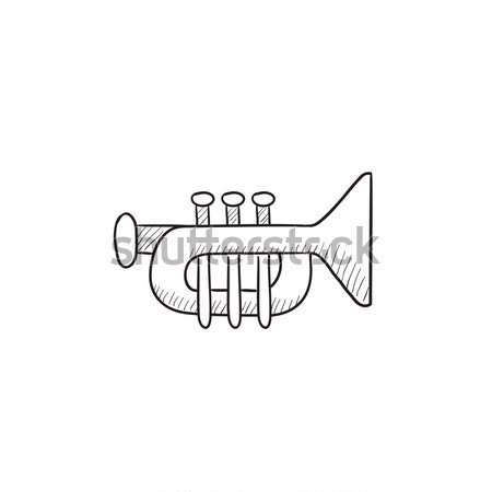 Trumpet sketch icon. Stock photo © RAStudio