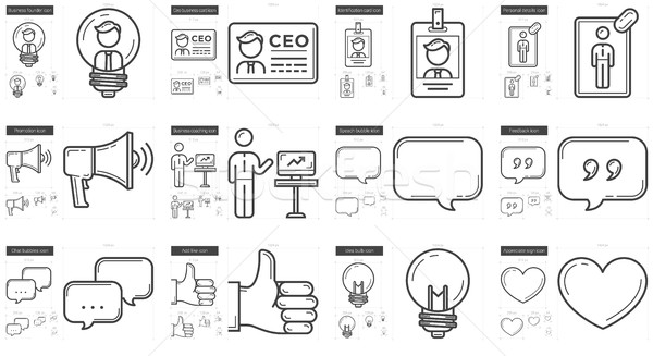 Human resources line icon set. Stock photo © RAStudio