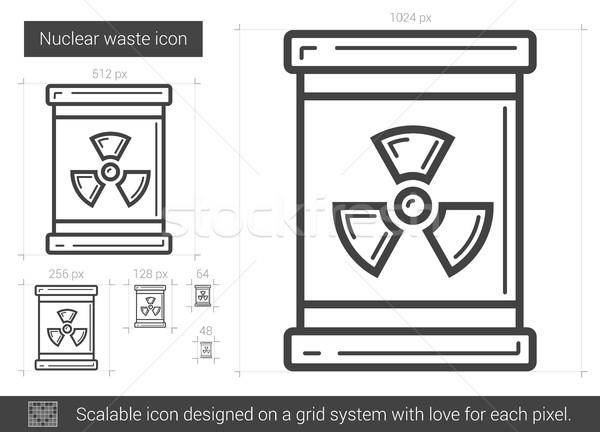 Nucleaire afval lijn icon vector geïsoleerd Stockfoto © RAStudio