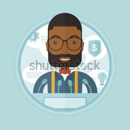 Successful businessman with dollar coin. Stock photo © RAStudio