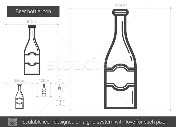 Beer bottle line icon. Stock photo © RAStudio