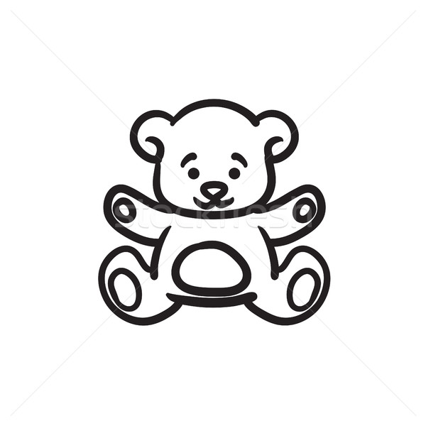 Teddy bear sketch icon. Stock photo © RAStudio