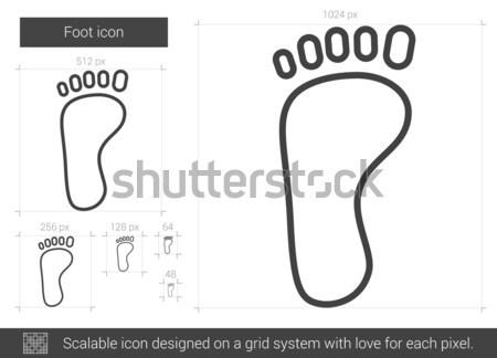 Lábnyom rajz ikon vektor izolált kézzel rajzolt Stock fotó © RAStudio