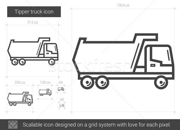 Tipper truck line icon. Stock photo © RAStudio