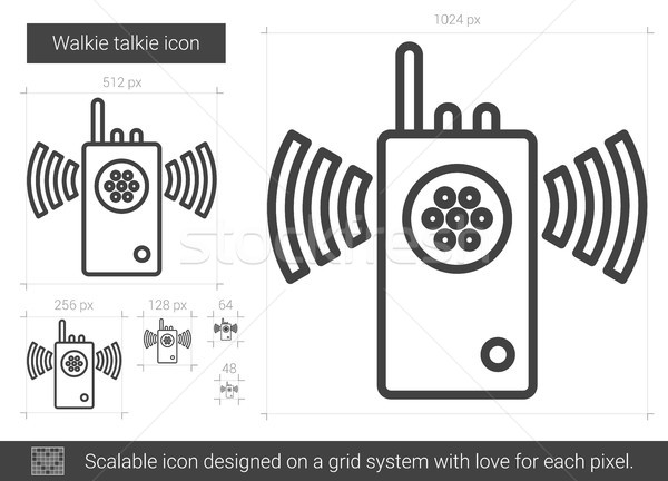 Stock photo: Walkie talkie line icon.