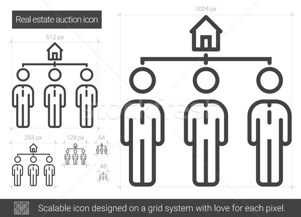 Stock photo: Real estate auction line icon.