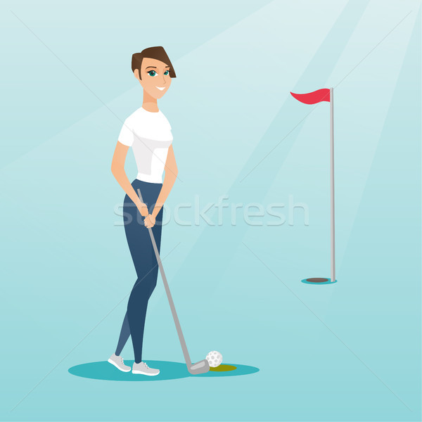 Giovani golfista palla golf Foto d'archivio © RAStudio