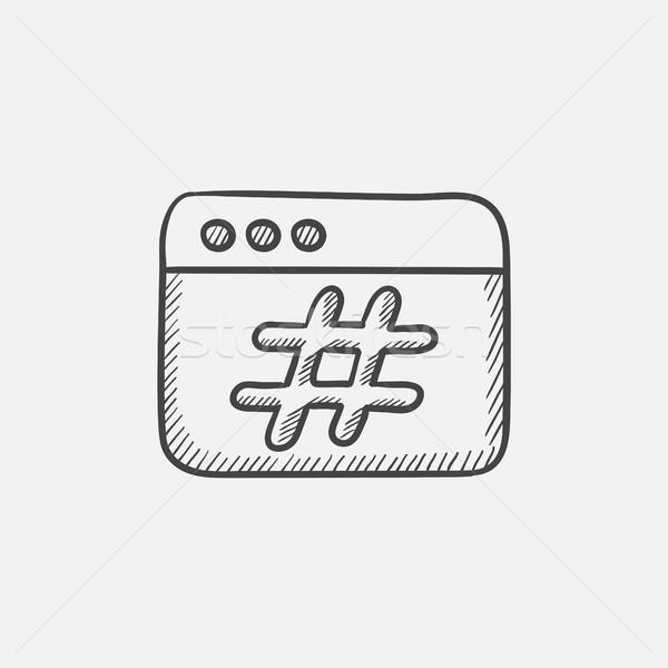Stock fotó: Böngésző · ablak · rajz · ikon · háló · mobil