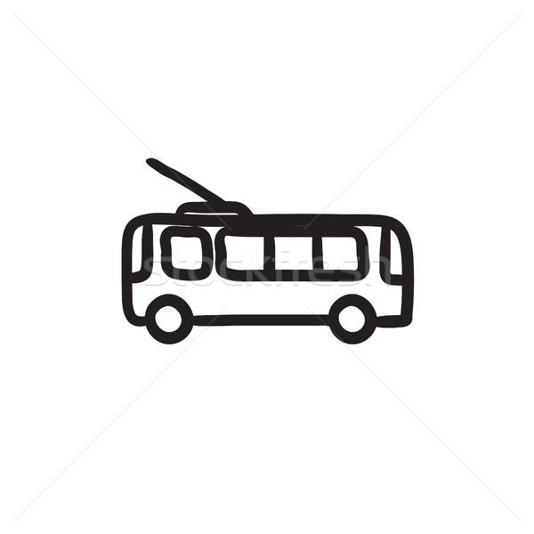 Trolleybus sketch icon. Stock photo © RAStudio