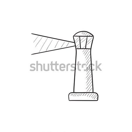 Lighthouse sketch icon. Stock photo © RAStudio