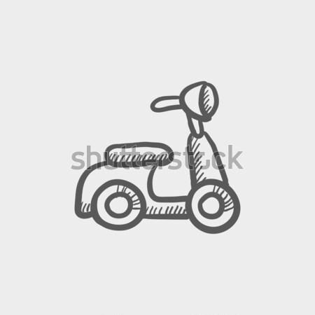 Scooter sketch icon. Stock photo © RAStudio