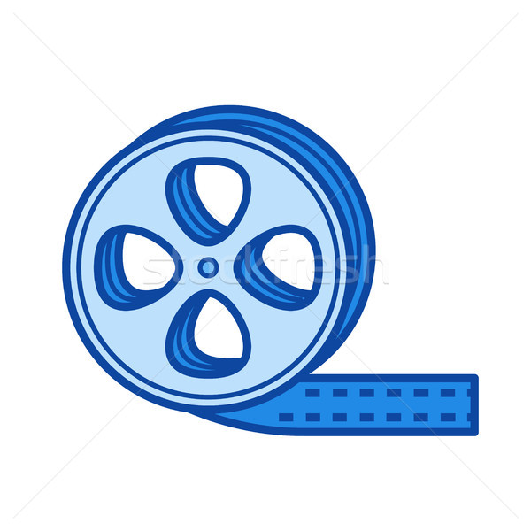 Film strip line icon. Stock photo © RAStudio