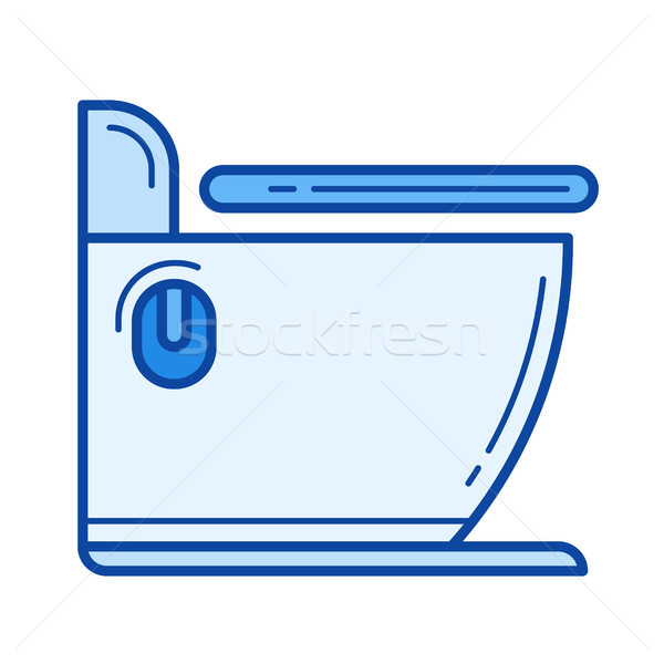 туалет линия икона вектора изолированный белый Сток-фото © RAStudio