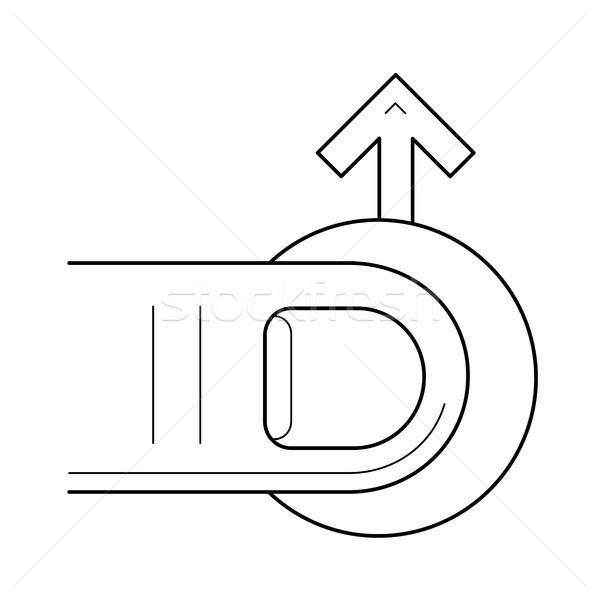 Navigáció vonal ikon vektor izolált fehér Stock fotó © RAStudio
