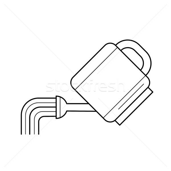 Watering can vector line icon. Stock photo © RAStudio