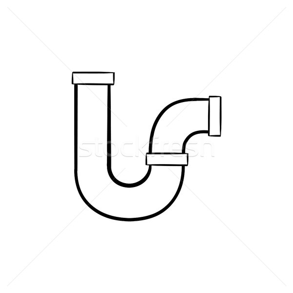 Water pipe hand drawn sketch icon. Stock photo © RAStudio
