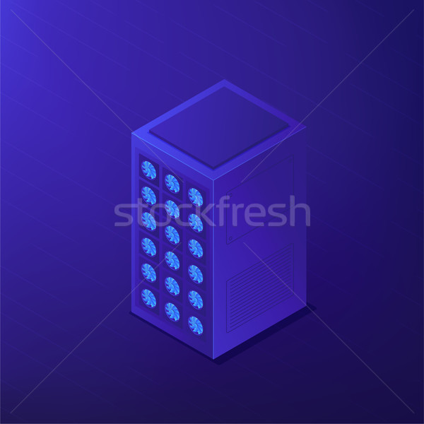 Isometric data center. Vector 3d illustration. Stock photo © RAStudio