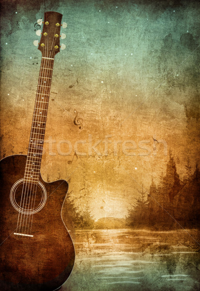 Starego papieru tekstury retro muzyki strony papieru Zdjęcia stock © RAStudio
