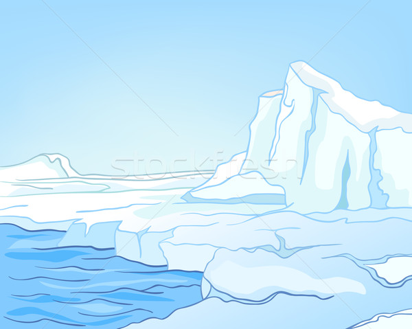 Cartoon Nature Landscape Arctic Stock photo © RAStudio