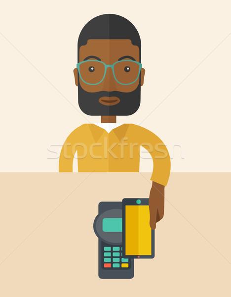 Internet shopping with smartphone Stock photo © RAStudio