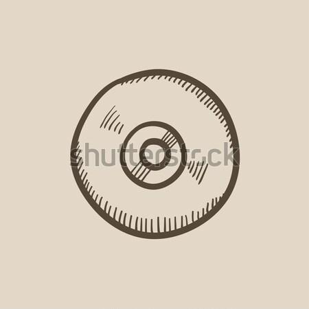 Bilardo top kroki ikon web hareketli Stok fotoğraf © RAStudio