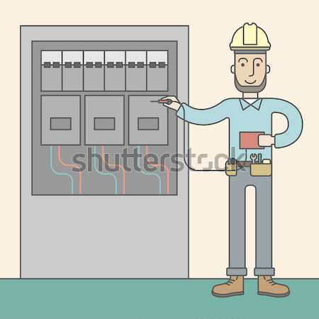 Eelectrician. Stock photo © RAStudio