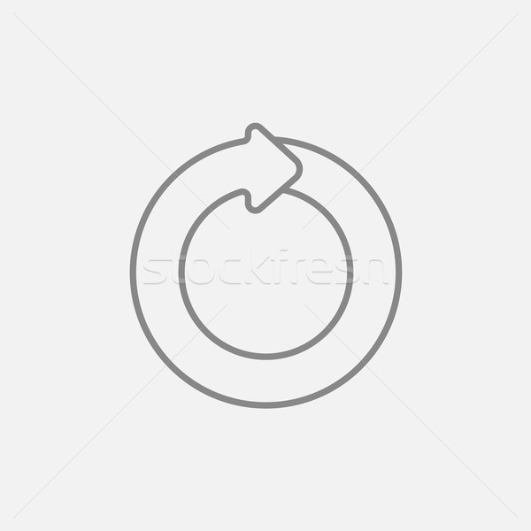 Circular arrow line icon. Stock photo © RAStudio