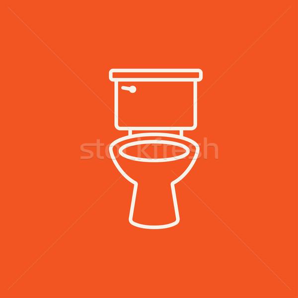 Lavatory bowl line icon. Stock photo © RAStudio