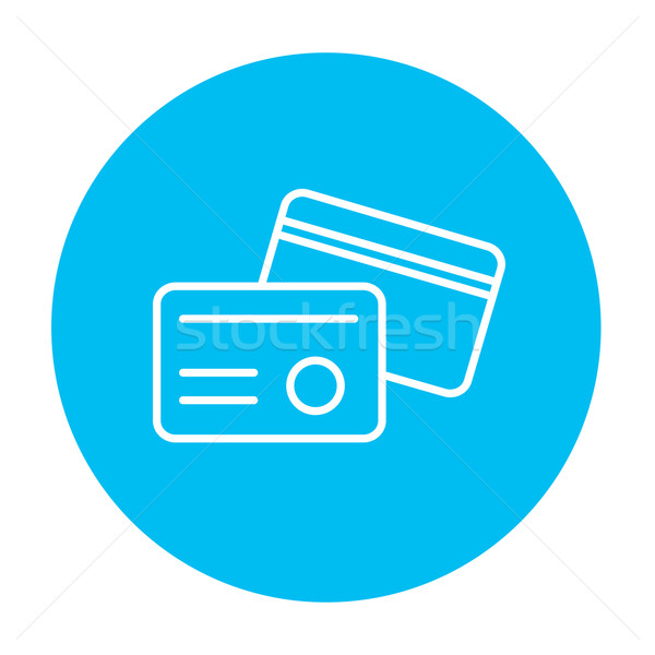 Identification card line icon. Stock photo © RAStudio