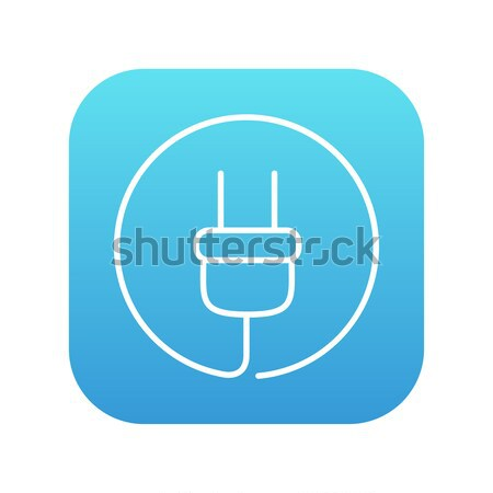 Plug line icon. Stock photo © RAStudio