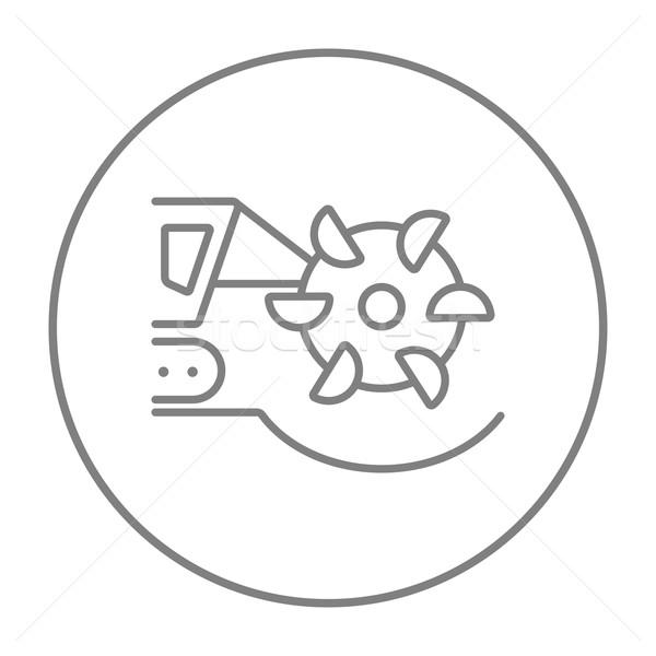 уголь машина барабан линия икона Сток-фото © RAStudio