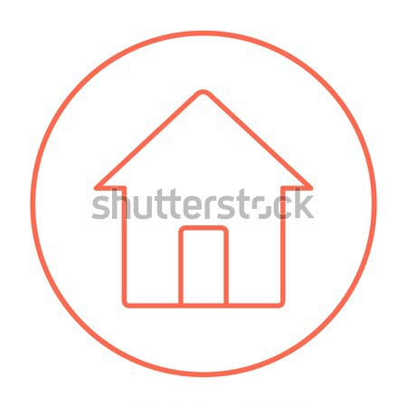 Сток-фото: роста · недвижимости · рынке · линия · икона · веб