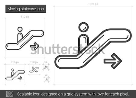 Gangway of plane line icon. Stock photo © RAStudio