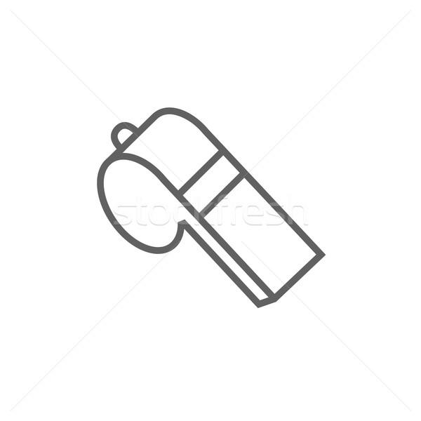 Assobiar linha ícone teia móvel Foto stock © RAStudio