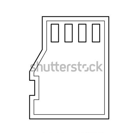 Sim card line icon. Stock photo © RAStudio