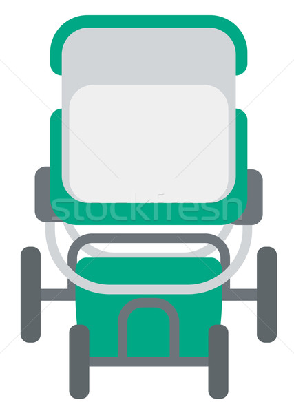 Groene kinderwagen vector ontwerp illustratie geïsoleerd Stockfoto © RAStudio