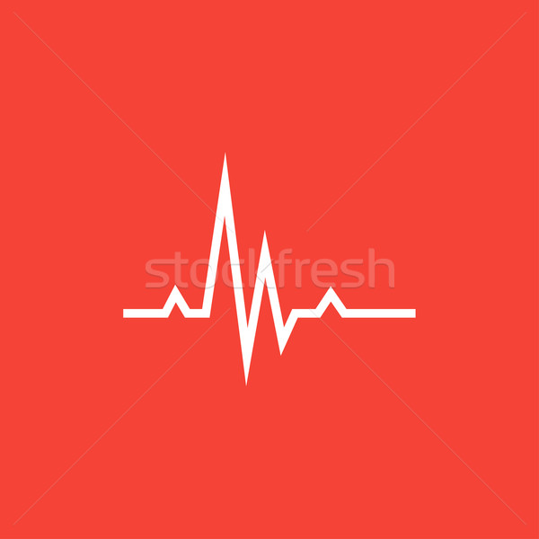 Hheart beat cardiogram line icon. Stock photo © RAStudio
