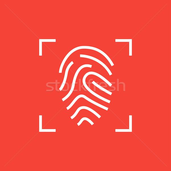 Vingerafdruk lijn icon hoeken web mobiele Stockfoto © RAStudio