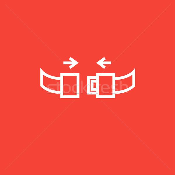 Koltuk kemer hat ikon köşeler web Stok fotoğraf © RAStudio
